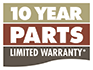 10 Yr Parts Limited Warranty*
