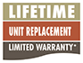 Lifetime Unit Replacement Limited Warranty*