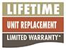 Lifetime Unit Replacement Limited Warranty*